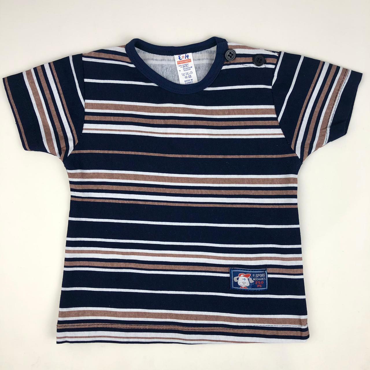 Хлопковая футболка с пуговицами на плече BREEZE 791