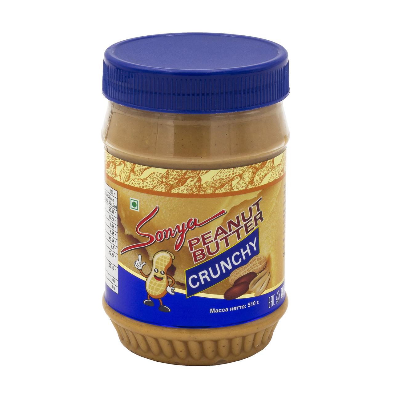 Паста арахисовая хрустящая Sonya, 510ml