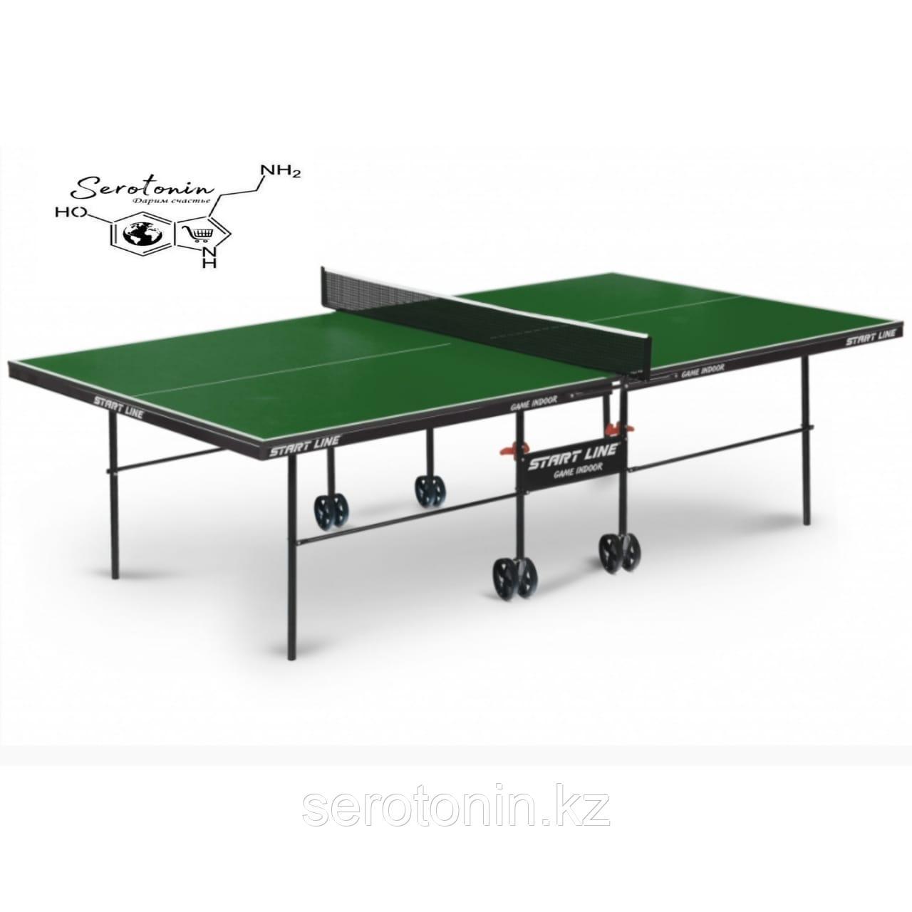 Теннисный стол Game Indoor green с сеткой