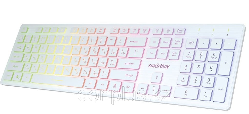 Клавиатура проводная Smartbuy ONE 305 USB белая с подсветкой