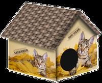 Дом дизайн для животных 33*33*40 PerseiLine ДМД-1 Саванна