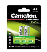 Аккумулятор Camelion, NH-AA2300ARBP2, AlwaysReady Rechargeable, AA, 1.2V, 2300 mAh, 2шт. в блистере