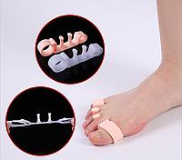 Корректоры для пальцев ног, на 4 пальца, силиконовые, пара, цвет белый