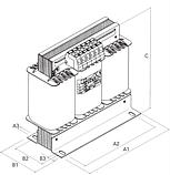 Трехфазный трансформатор герметизированный смолой, фото 2