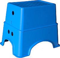 Табурет-подставка голубой