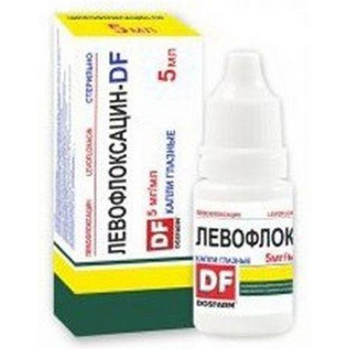 Левофлоксацин ДФ 0.5% глазные капли 5 мл