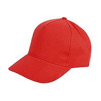 """Бейсболка """"Hit"""", 5 клиньев,  застежка на липучке; красный; 100% п/э; плотность 135 г/м2"""