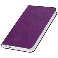 """Универсальный аккумулятор """"Softi"""" (4000mAh),фиолетовый, 7,5х12,1х1,1см, искусственная кожа"""