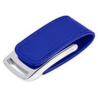 "USB flash-карта ""Lerix"" (8Гб), темно-синий, 6х2,5х1,3см, металл, искусственная кожа"