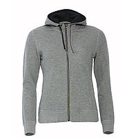 Толстовка женская Classic Hoody Full Zip, серый меланж_XS, 85% хлопок, 15% вискоза, 300 грм2