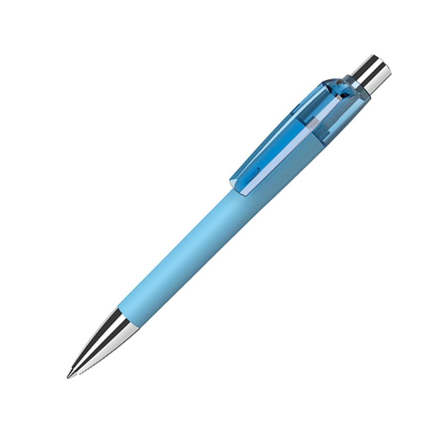 Ручка шариковая MOOD, покрытие soft touch, светло-голубой, пластик, металл