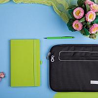 Набор подарочный LEVEL UP: бизнес-блокнот, ручка, чехол для планшета, цвет зеленое яблоко