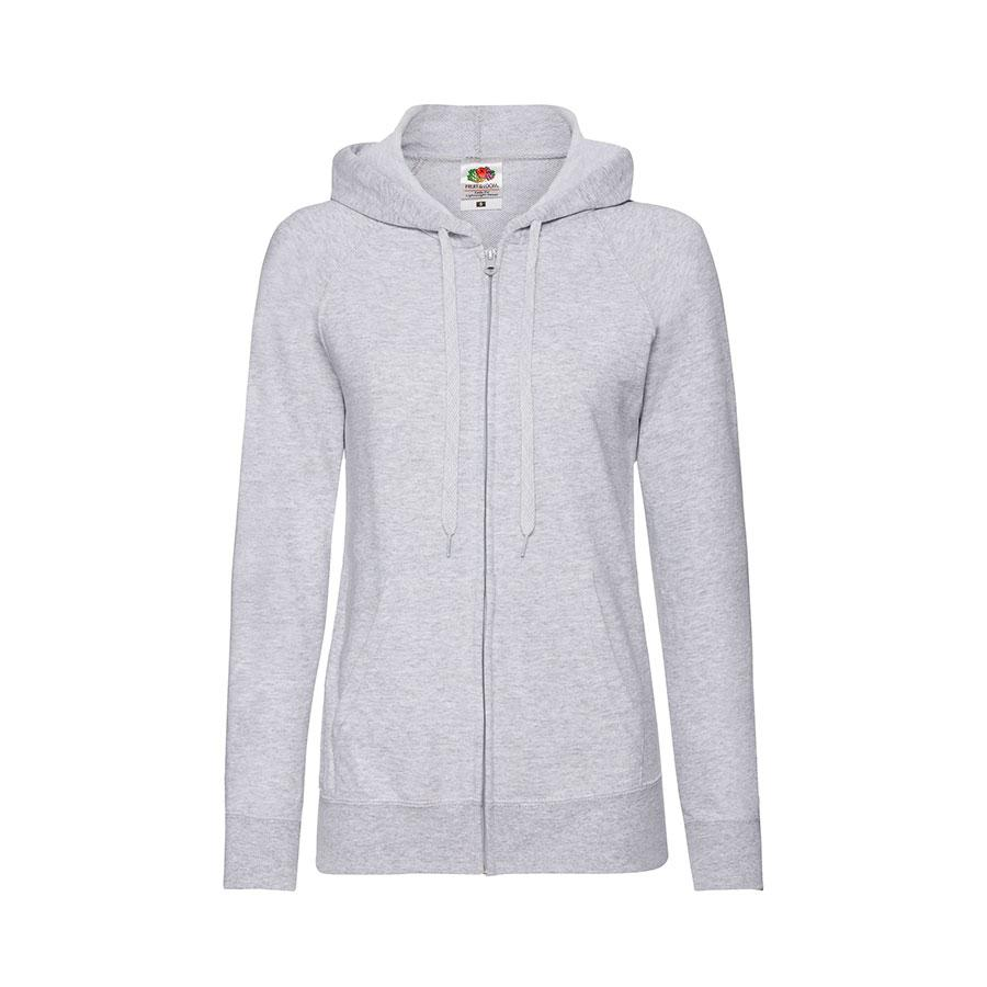 "Толстовка без начеса ""Ladies Lightweight Hooded Sweat"", серый, XS, 80% х/б 20% полиэстер, 240 г/м2"