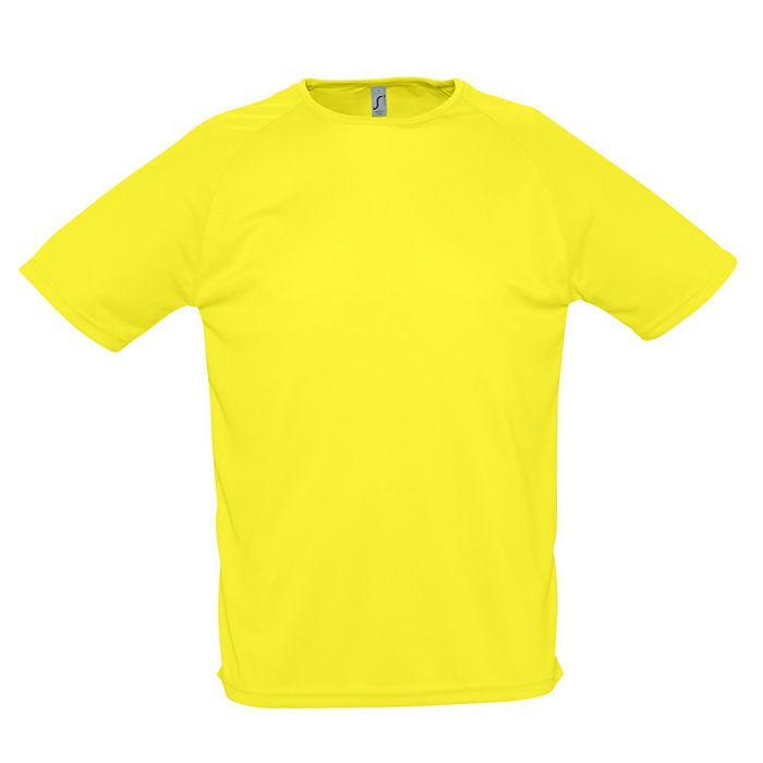 """Футболка """"Sporty"""", лимонный_2XL, 100% воздухопроницаемый полиэстер, 140 г/м2"""