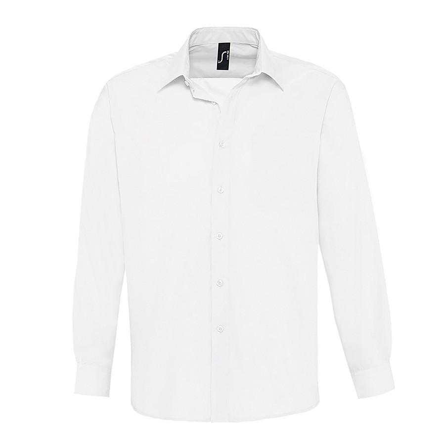 "Рубашка""Baltimore"", белый_L, 65% полиэстер, 35% хлопок, 105г/м2"