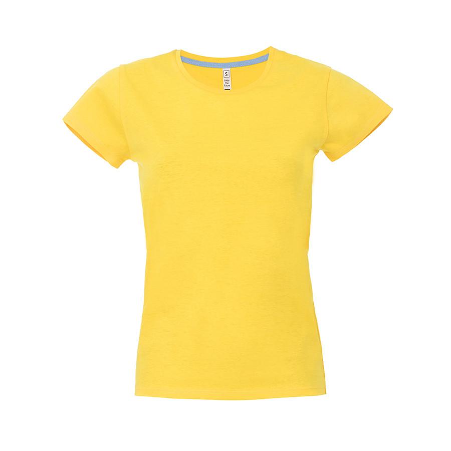 """Футболка женская """"California Lady"""", желтый, M, 100% хлопок, 150 г/м2"""