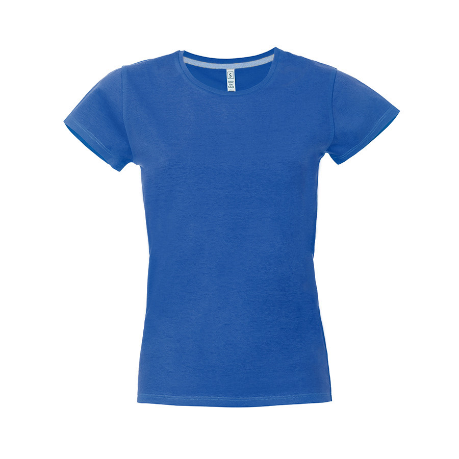 """Футболка женская """"California Lady"""", синий, S, 100% хлопок, 150 г/м2"""