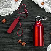 Набор подарочный ENERGYHINT: зарядное устройство, бутылка, цвет красный, фото 1