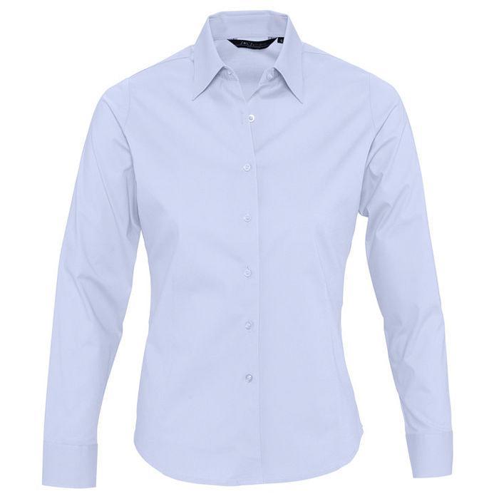 "Рубашка""Eden"", небесно-голубой_L, 97% хлопок, 3% эластан, 140г/м2"