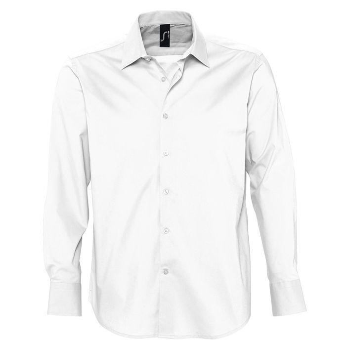"Рубашка""Brighton"", белый_S, 97% хлопок, 3% эластан, 140г/м2"