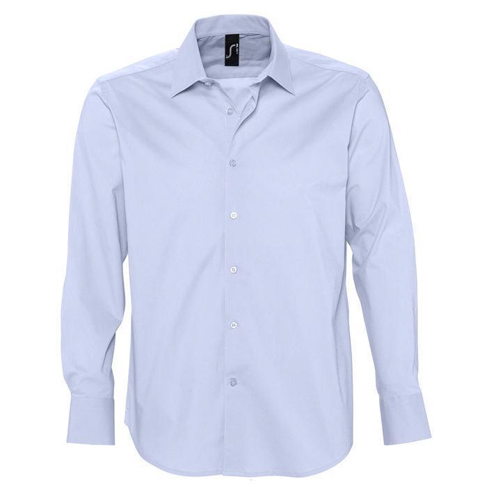 "Рубашка""Brighton"", небесно-голубой_2XL, 97% хлопок, 3% эластан, 140г/м2"