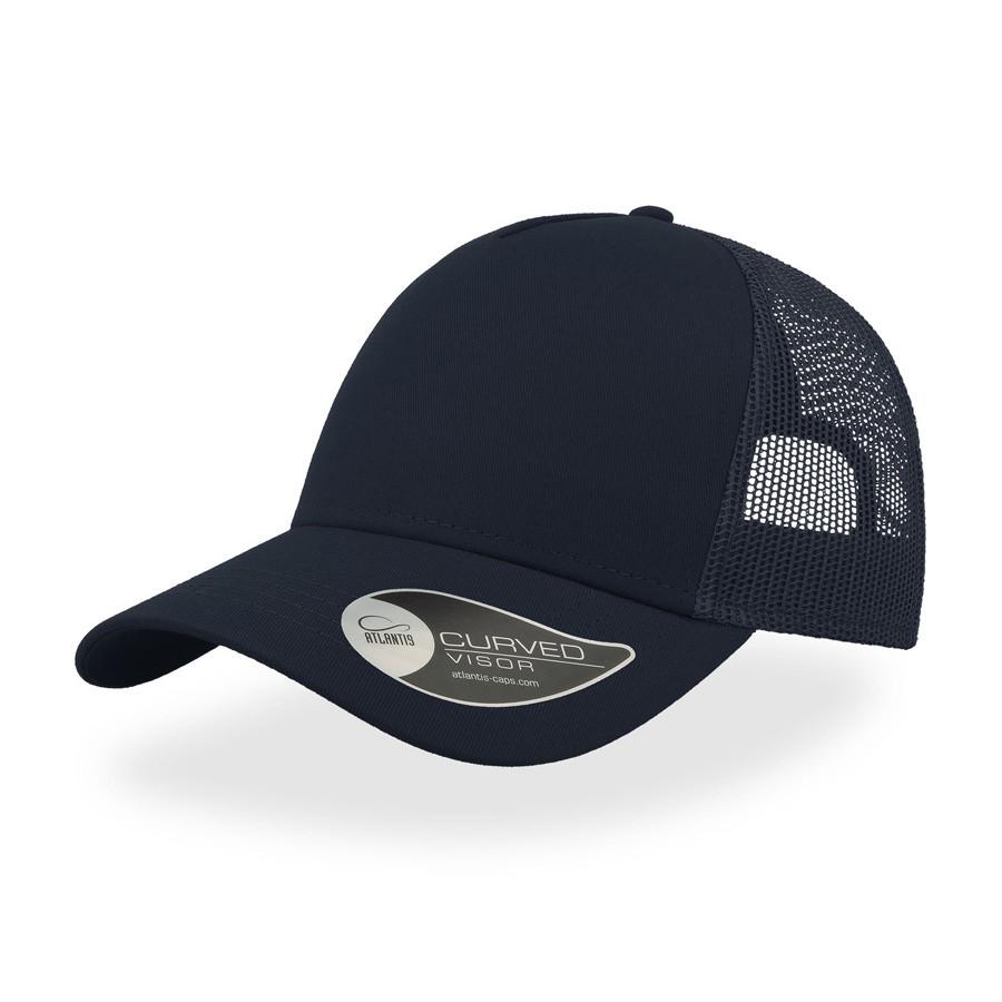 "Бейсболка ""RAPPER COTTON"",5 клиньев,пласт.застежка, темно-синий, 100 х/б%, 100% полиэстер, 180 гр/м2"