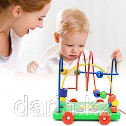 Игра детская лабиринт пальчиковый деревянный