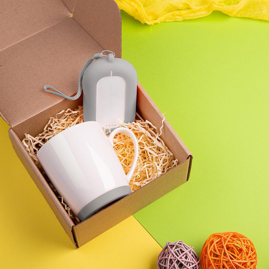 Набор подарочный MATISSE`TEAS: кружка, зарядное устройство, коробка, стружка, серый