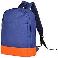 """Рюкзак """"URBAN"""",  темно-синий/оранжевый, 39х27х10 cм, полиэстер 600D"""
