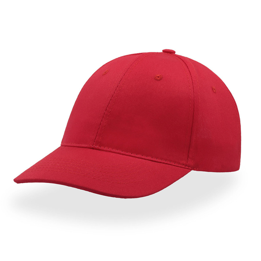 """Бейсболка """"START SIX"""", 6 клиньев,  застежка на липучке, красный, 100% хлопок, плотность 160 г/м2"""