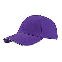 """Бейсболка """"LIBERTY SANDWICH"""",6 клиньев,сэндвич, металл. застежка; фиолетовый;100% хлопок,250 г/м2, фото 1"""