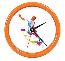 "Часы настенные ""PRINT"" разборные ;  оранжевый, D24,5 см; пластик"
