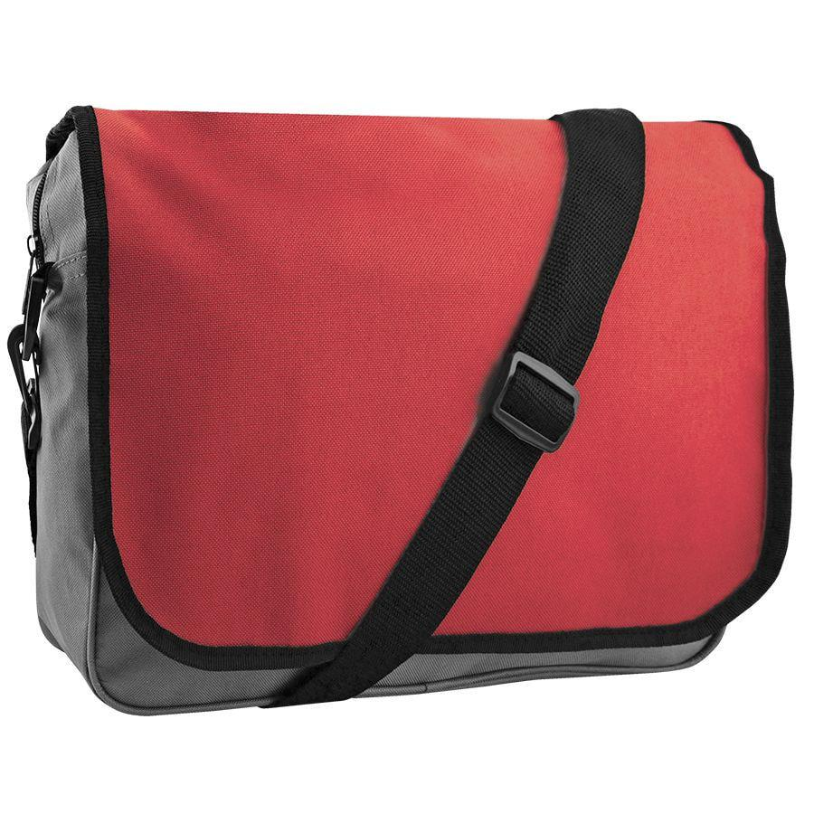 "Конференц-сумка ""College""; серый с красным; 38х30х9,5 см; полиэстер"