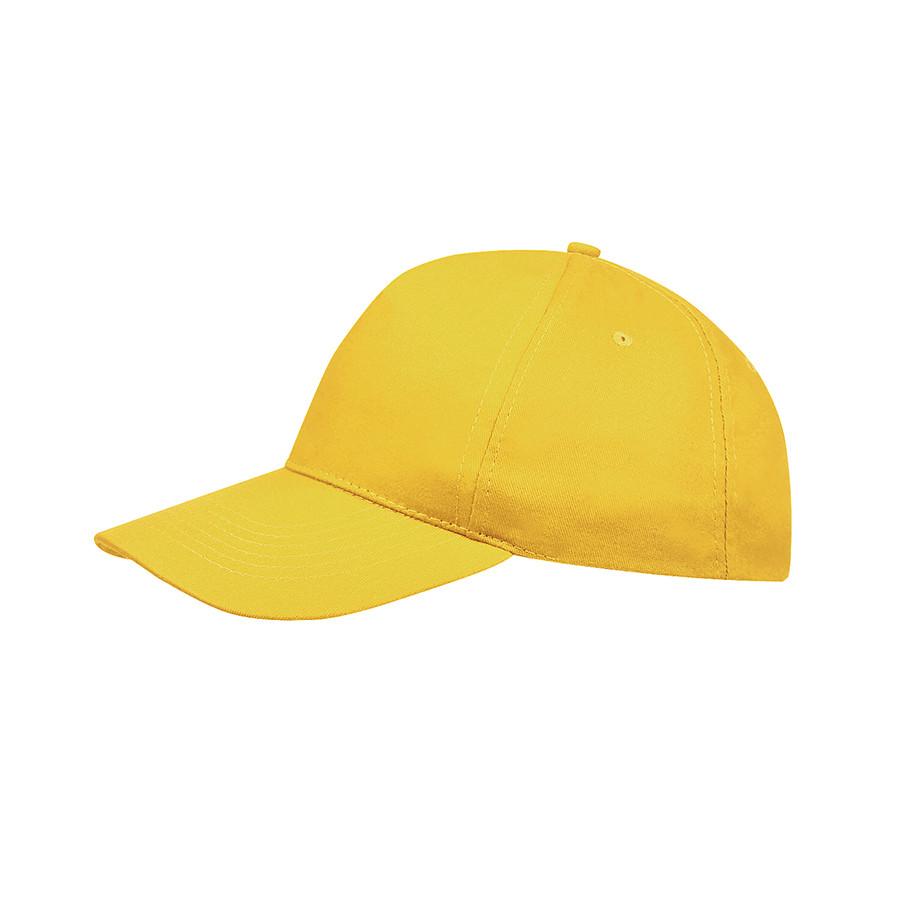 """Бейсболка """"SUNNY"""", 5 клиньев, застежка на липучке, солнечно-желтый, 100% хлопок, плотность 180 г/м2"""