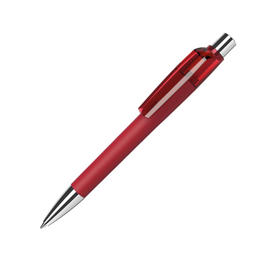 Ручка шариковая MOOD, покрытие soft touch, красный, пластик, металл