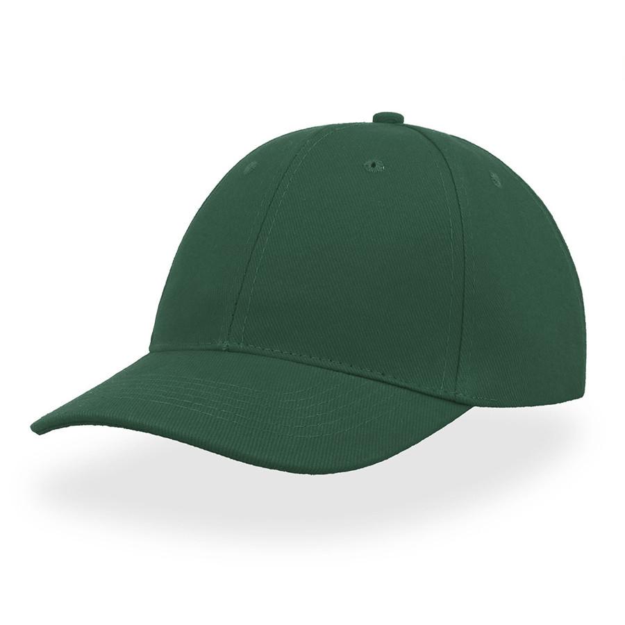 """Бейсболка """"LIBERTY SIX BUCKLE"""", 6 клиньев, металлическая застежка, т.зеленый, 100% хлопок, 250 г/м2"""