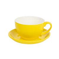 Чайная/кофейная пара CAPPUCCINO, желтый, 260 мл, фарфор