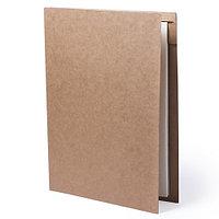 Папка BLOGUER A4 с бумажным блоком и ручкой, рециклированый картон, фото 1