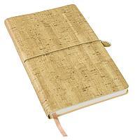 Ежедневник недатированный Woody, А5,  светло-коричневый, кремовый блок, без обреза