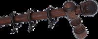 Карниз деревянный однорядный ДК 11 мокко 240 см