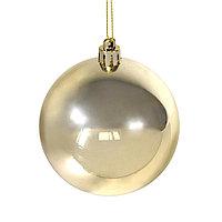 Шар новогодний Gloss, диаметр 8 см., пластик,золотистый, фото 1