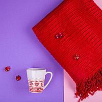 Набор подарочный NATIVE PASSION: плед, кружка, коробка,  красный, фото 1