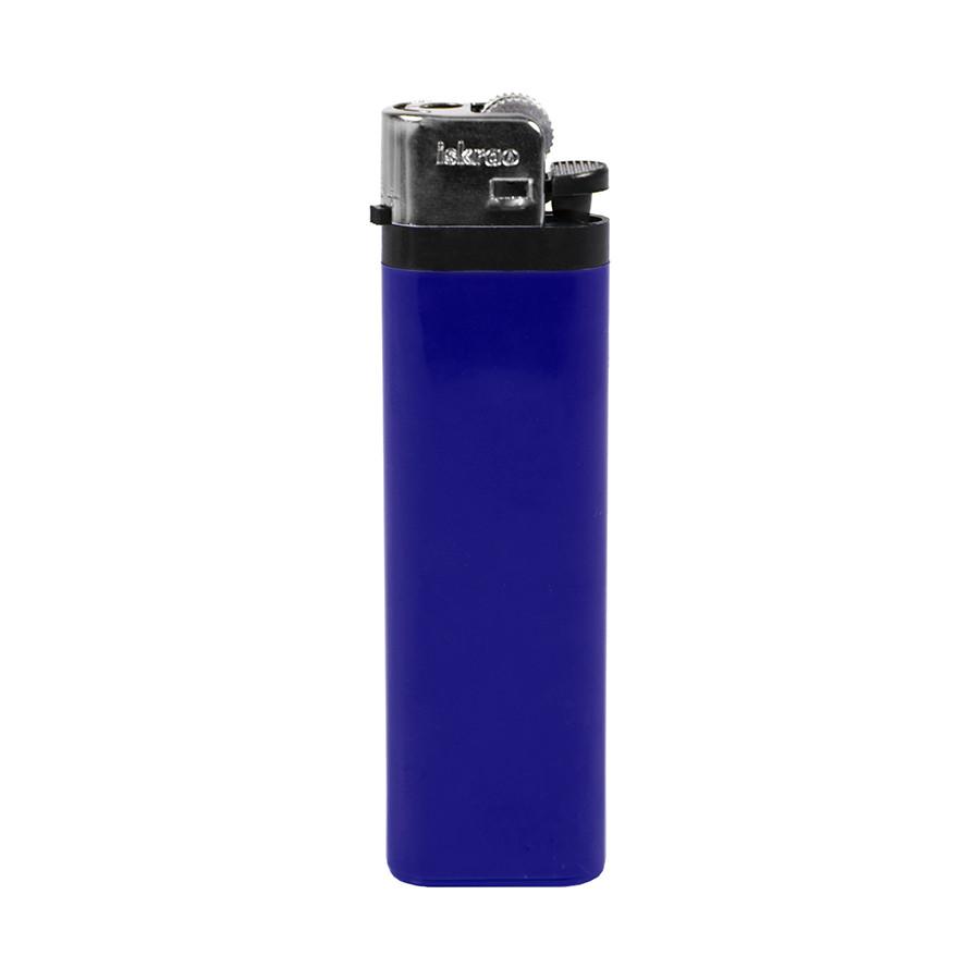 Зажигалка кремниевая ISKRA, синяя, 8,18х2,53х1,05 см, пластик/тампопечать