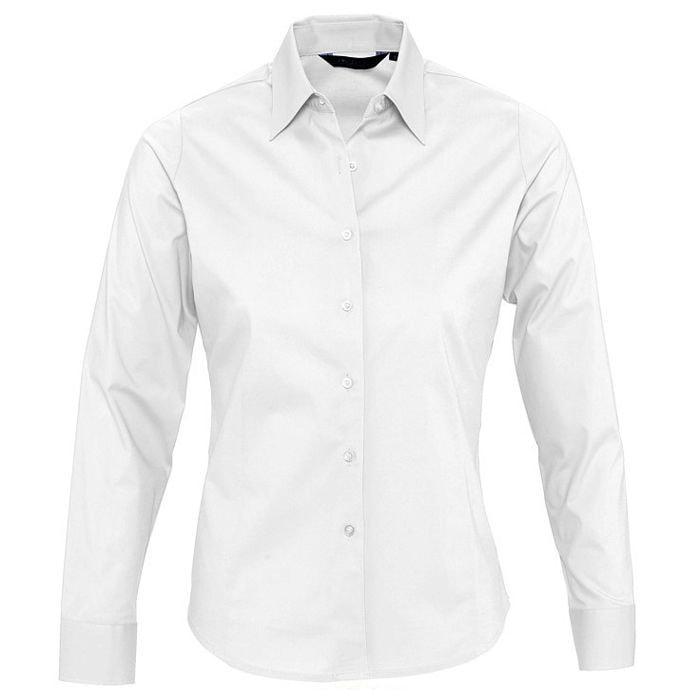 "Рубашка""Eden"", белый_M, 97% хлопок, 3% эластан, 140г/м2"
