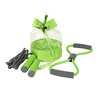 Набор SPORT UP, эспандер, скакалка, сумка, зеленый, полиуретан