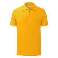 """Поло """"Iconic Polo"""", желтый, S, 100% х/б, 180 г/м2, фото 1"""