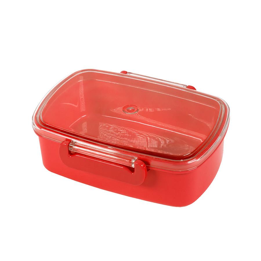 Ланч-бокс FRESH, пластик, 750мл, 180*130*62 мм, красный