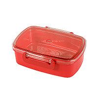 Ланч-бокс FRESH, пластик, 750мл, 180*130*62 мм, красный, фото 1