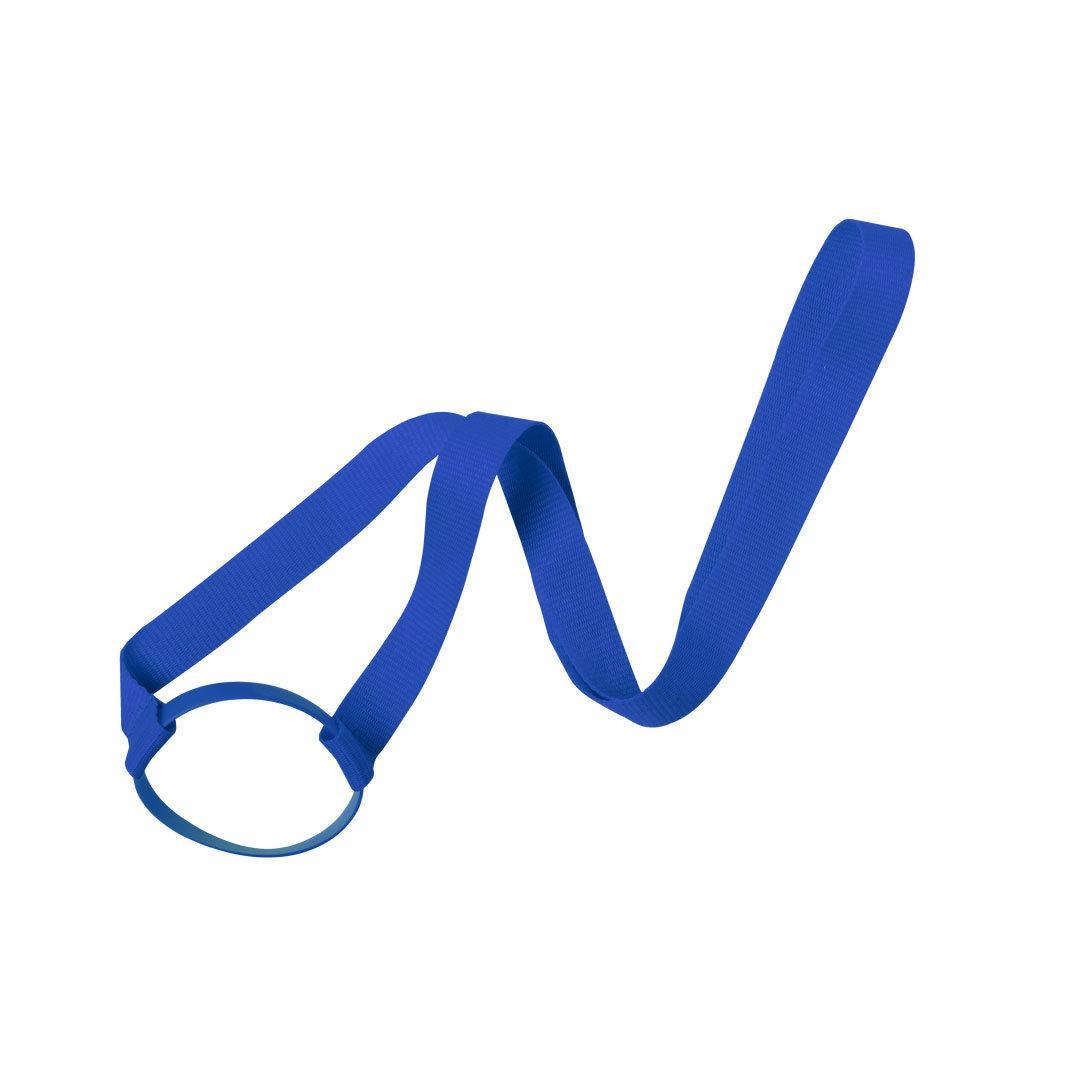 Ланъярд FRINLY для стакана, синий, полиэстер \ силикон, 2х45 см