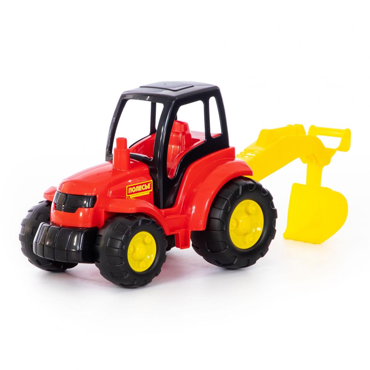 Игрушка трактор Чемпион с лопатой, Полесье - фото 1